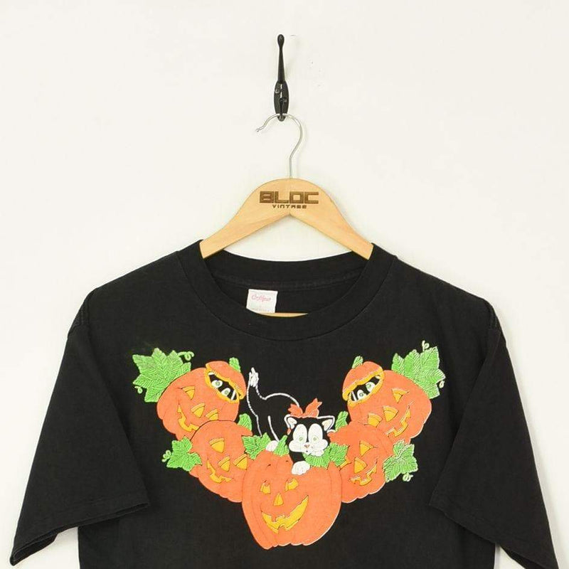 Pumpkins T-Shirt Black Medium - BLOC Vintage Clothing