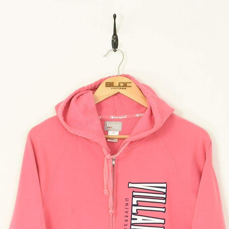 Champion Zip Up Hooded Sweatshirt Pink XSmall - BLOC Vintage Clothing