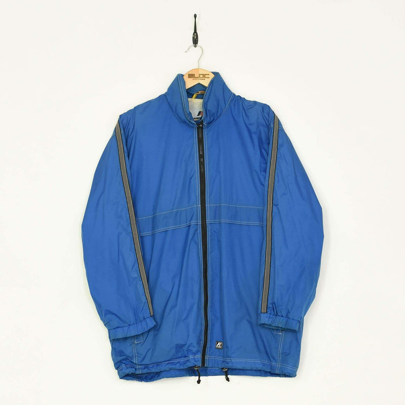 KWAY Windbreaker Blue XLarge - BLOC Vintage Clothing