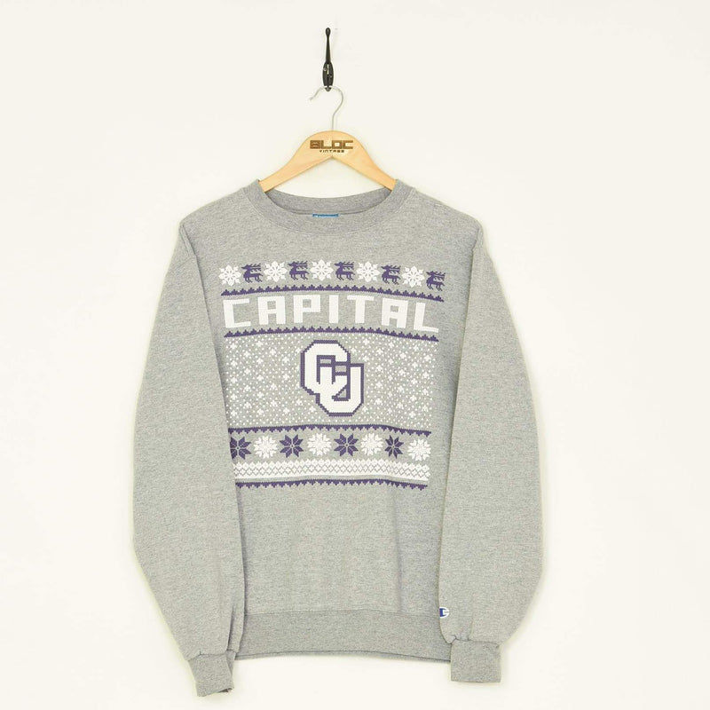 Champion Capital Sweatshirt Grey Medium - BLOC Vintage Clothing