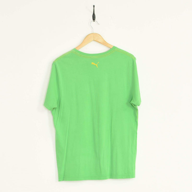 Puma T-Shirt Green Medium - BLOC Vintage Clothing