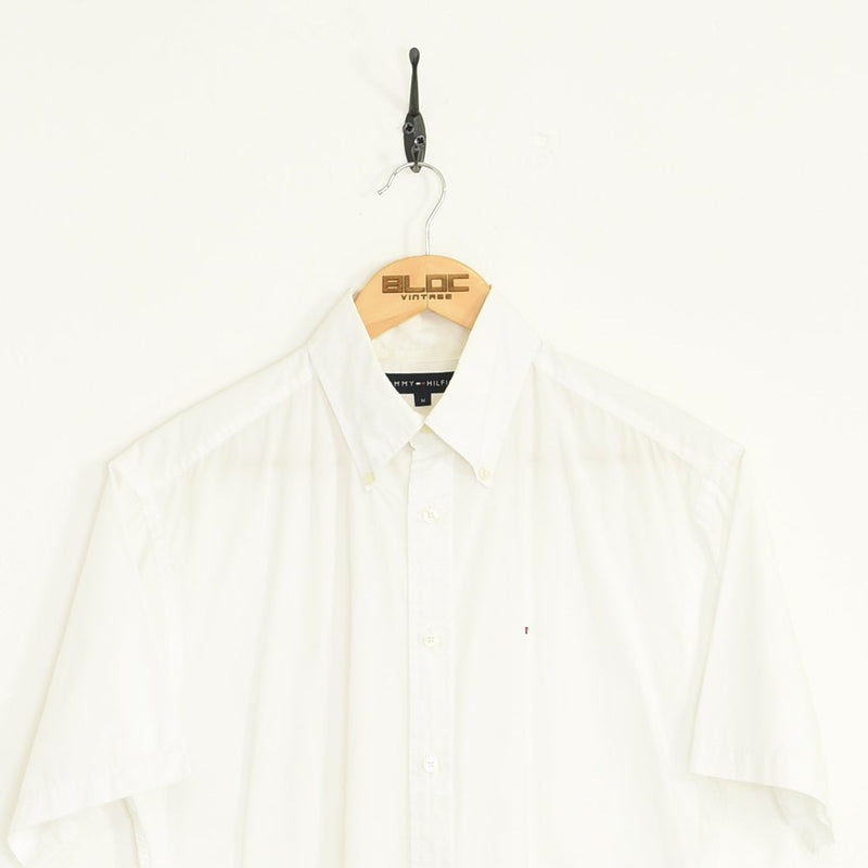 Tommy Hilfiger Shirt White Large - BLOC Vintage Clothing