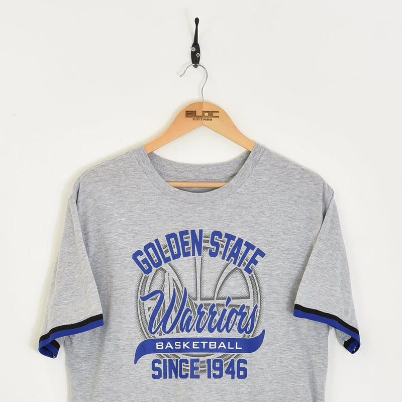 Golden State Warriors NBA T-Shirt Grey Medium - BLOC Vintage Clothing