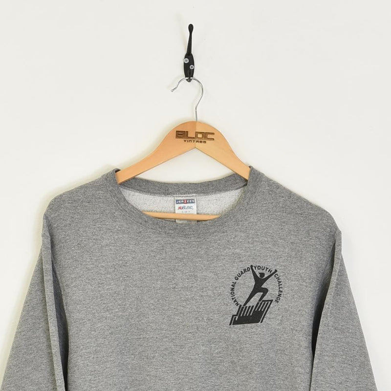 National Guard Youth Sweatshirt Grey Small - BLOC Vintage Clothing