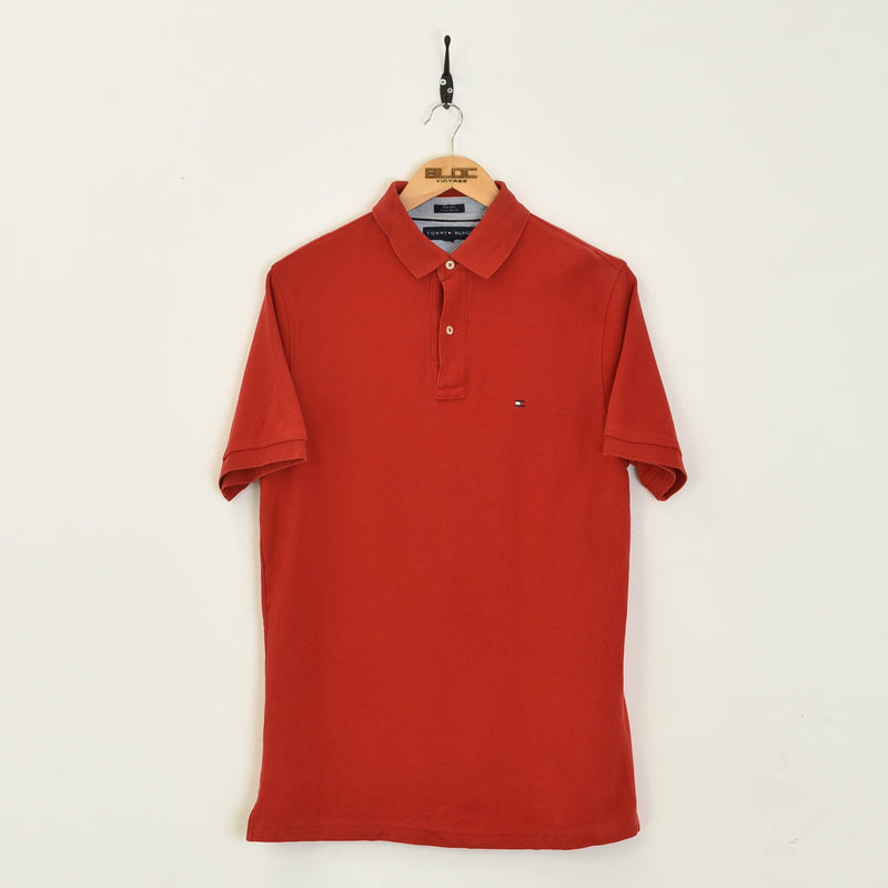 Tommy Hilfiger Polo T-Shirt Red Large - BLOC Vintage Clothing