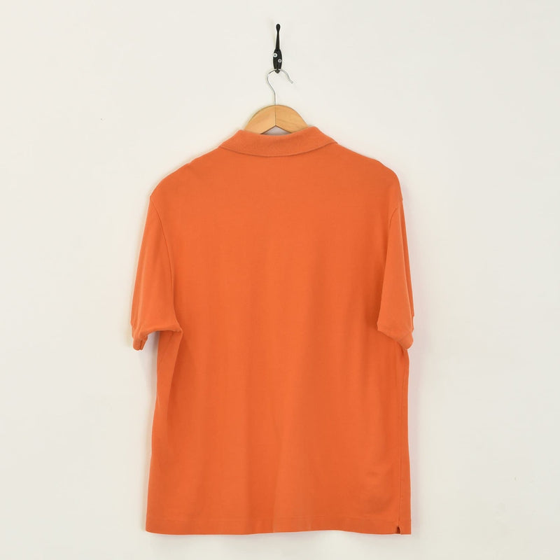 Lacoste Polo T-Shirt Orange Large - BLOC Vintage Clothing
