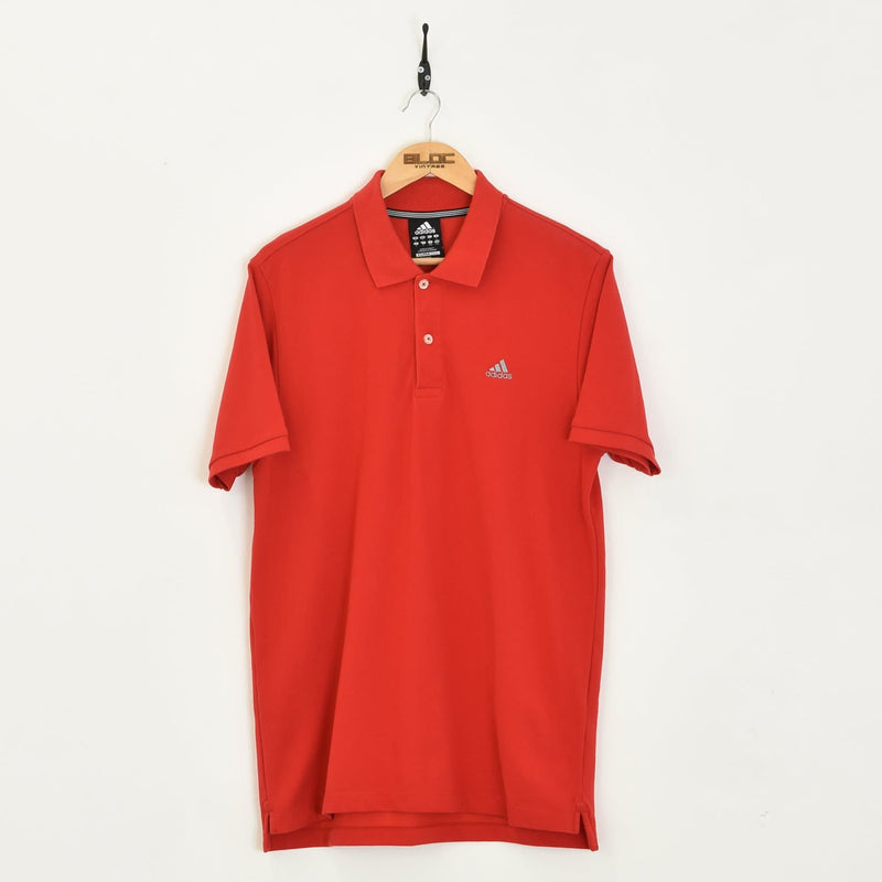 Adidas Polo T-Shirt Red XLarge - BLOC Vintage Clothing