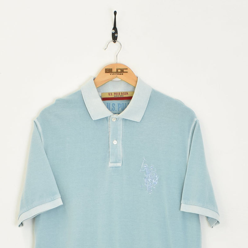 US Polo T-Shirt Blue XXLarge - BLOC Vintage Clothing