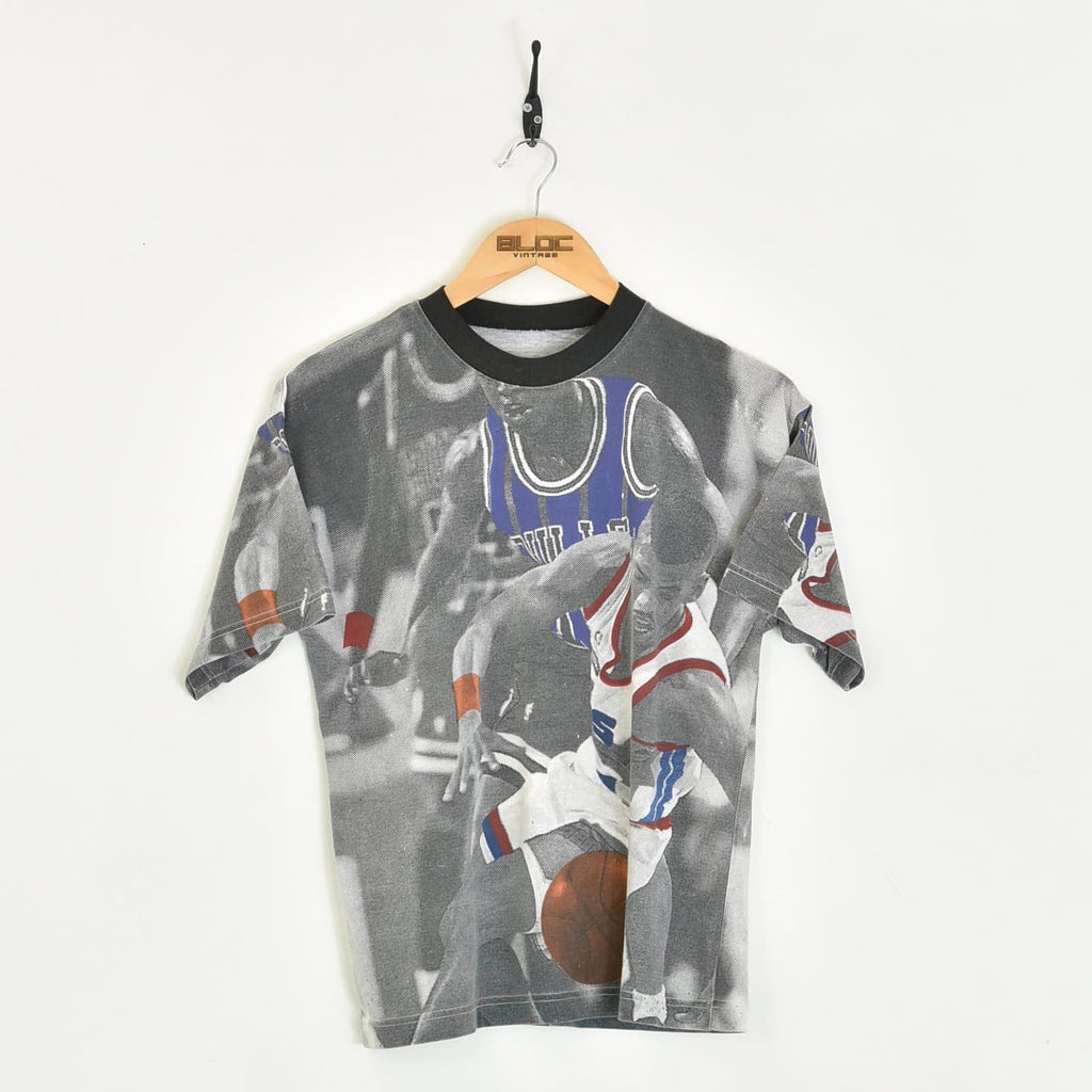 Basketball T-Shirt Grey XXSmall - BLOC Vintage Clothing