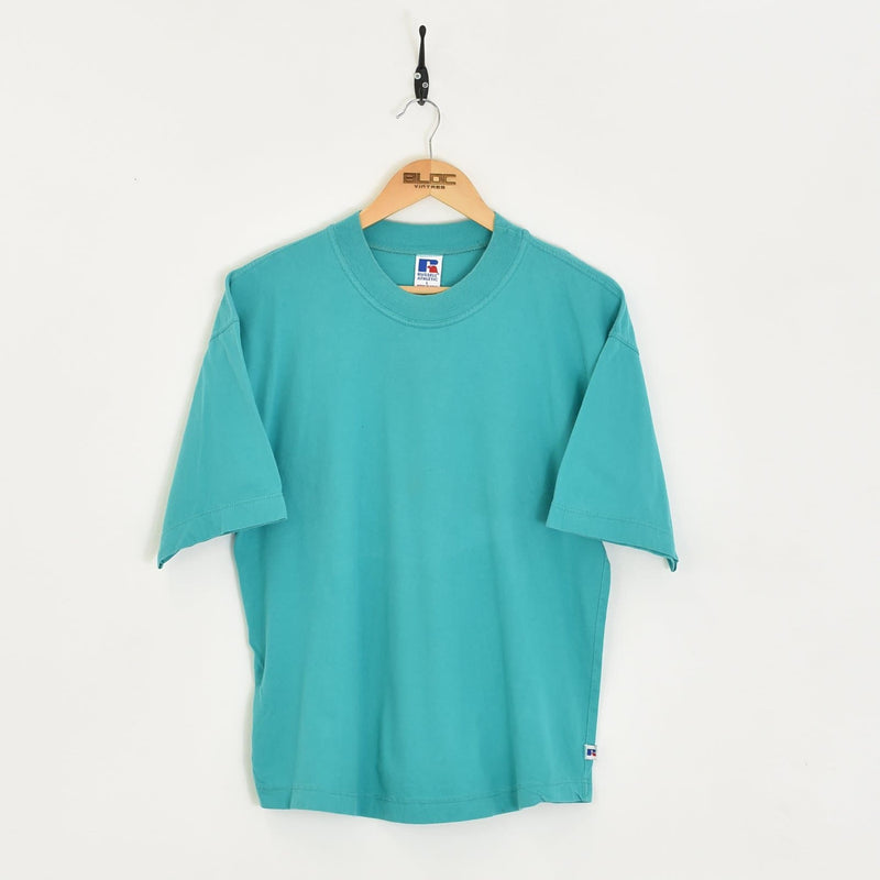 Plain T-Shirt Green XSmall - BLOC Vintage Clothing