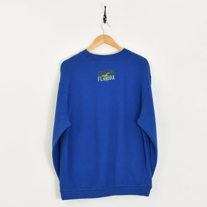 Florida Sweatshirt Blue Medium - BLOC Vintage Clothing