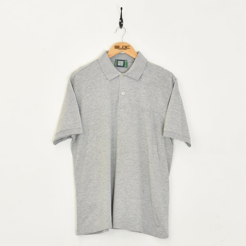 Sergio Tacchini Polo T-Shirt Grey Large - BLOC Vintage Clothing