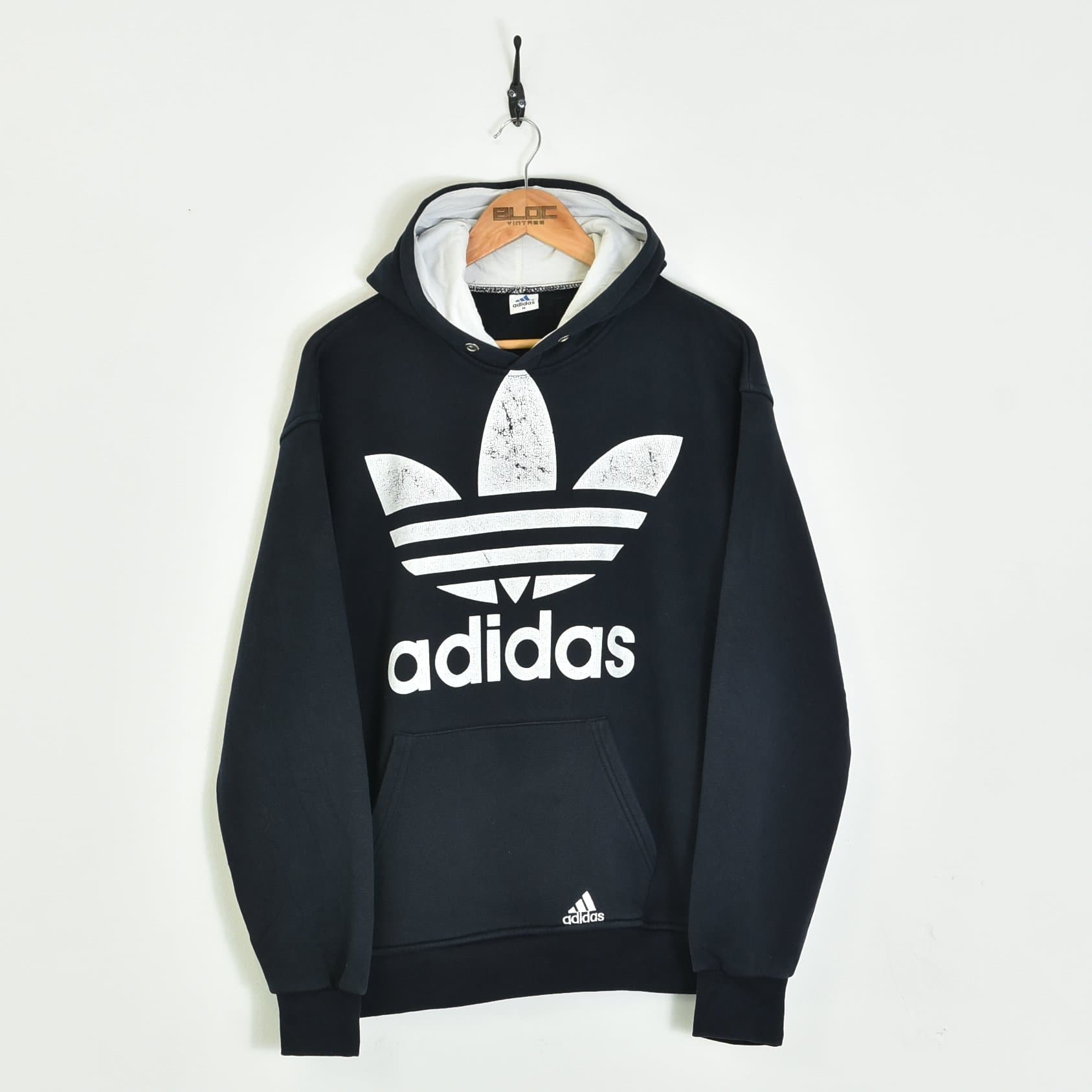 Punto de referencia exceso Gran cantidad  Bootleg Adidas Hooded Sweatshirt Blue Medium | BLOC Vintage Clothing