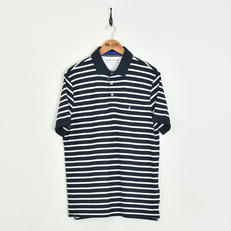 Nautica Polo T-Shirt Blue XLarge - BLOC Vintage Clothing