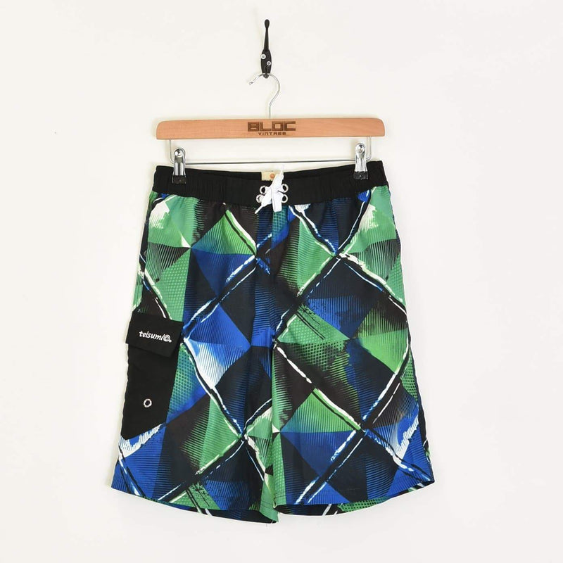 Patterned Shorts Black XSmall - BLOC Vintage Clothing