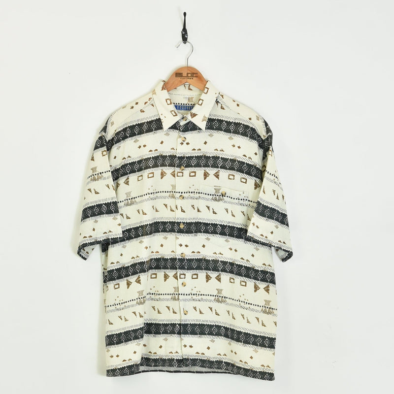 Aztec Shirt Cream XLarge - BLOC Vintage Clothing