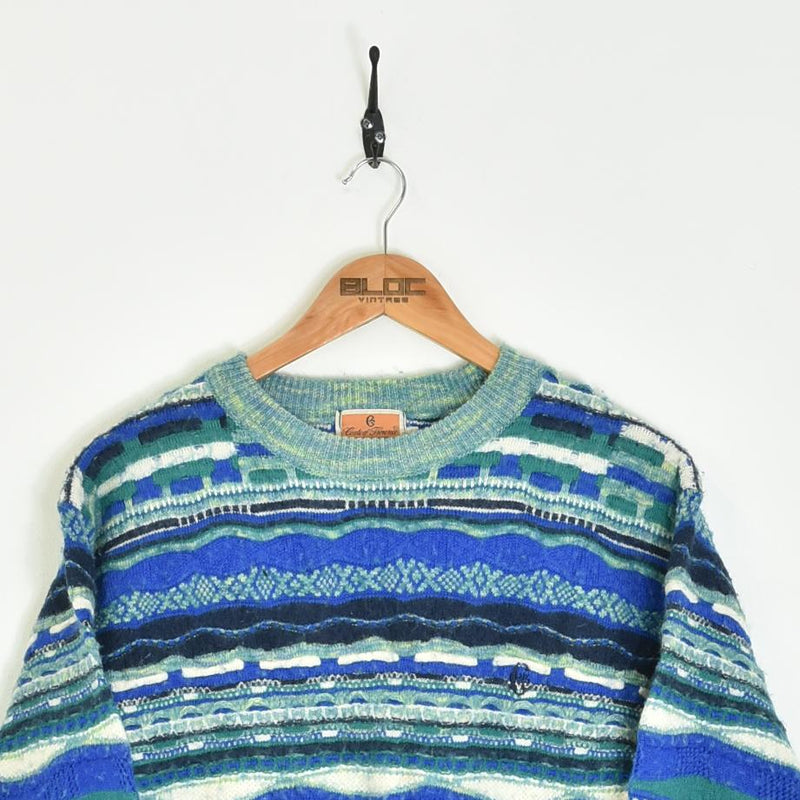 Patterned Knitted Sweater Blue XXSmall - BLOC Vintage Clothing