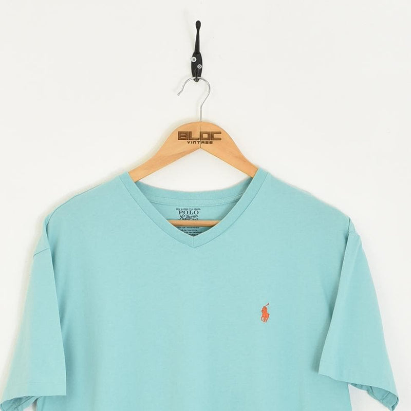 Ralph Lauren T-Shirt Blue Medium - BLOC Vintage Clothing