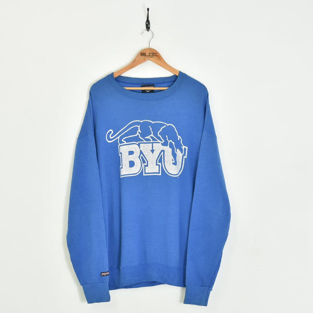 BYU Sweatshirt Blue XXLarge - BLOC Vintage Clothing
