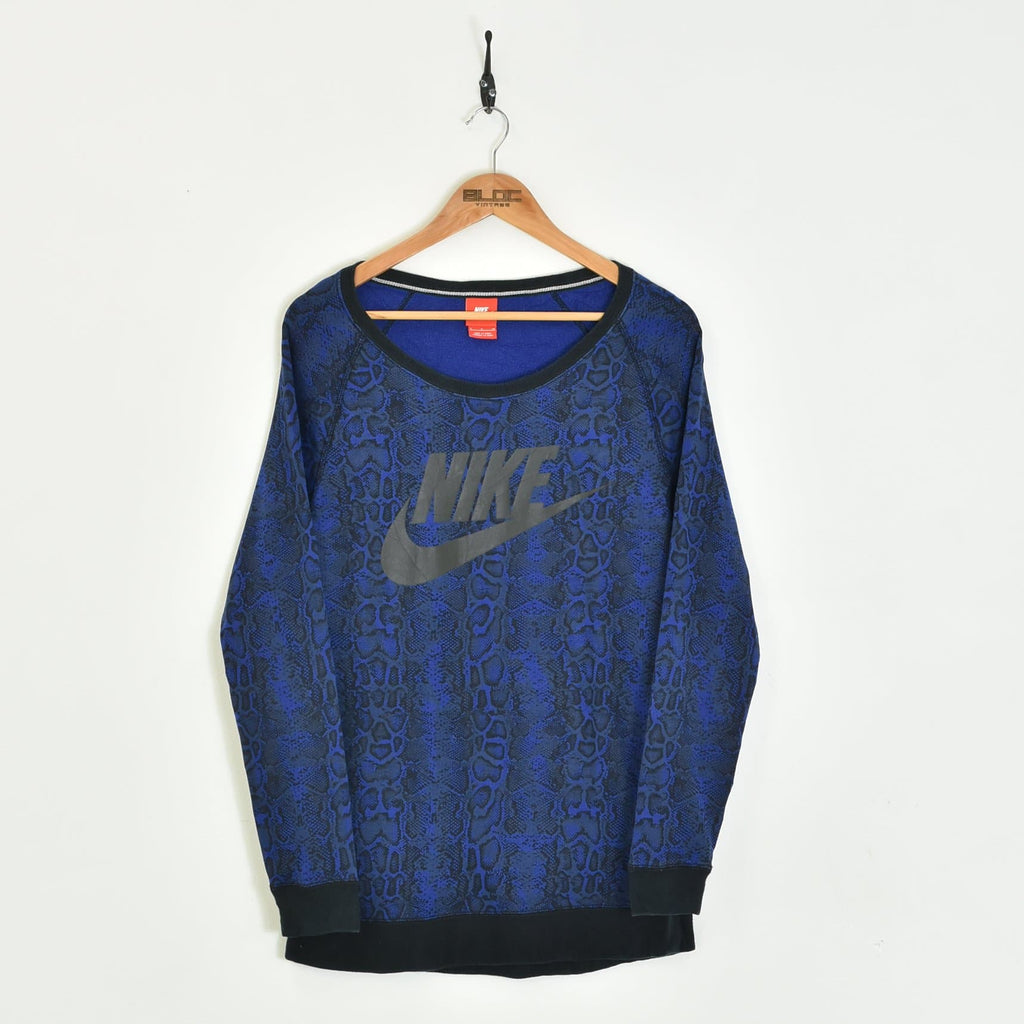 Women's Nike Sweatshirt Blue Small - BLOC Vintage Clothing