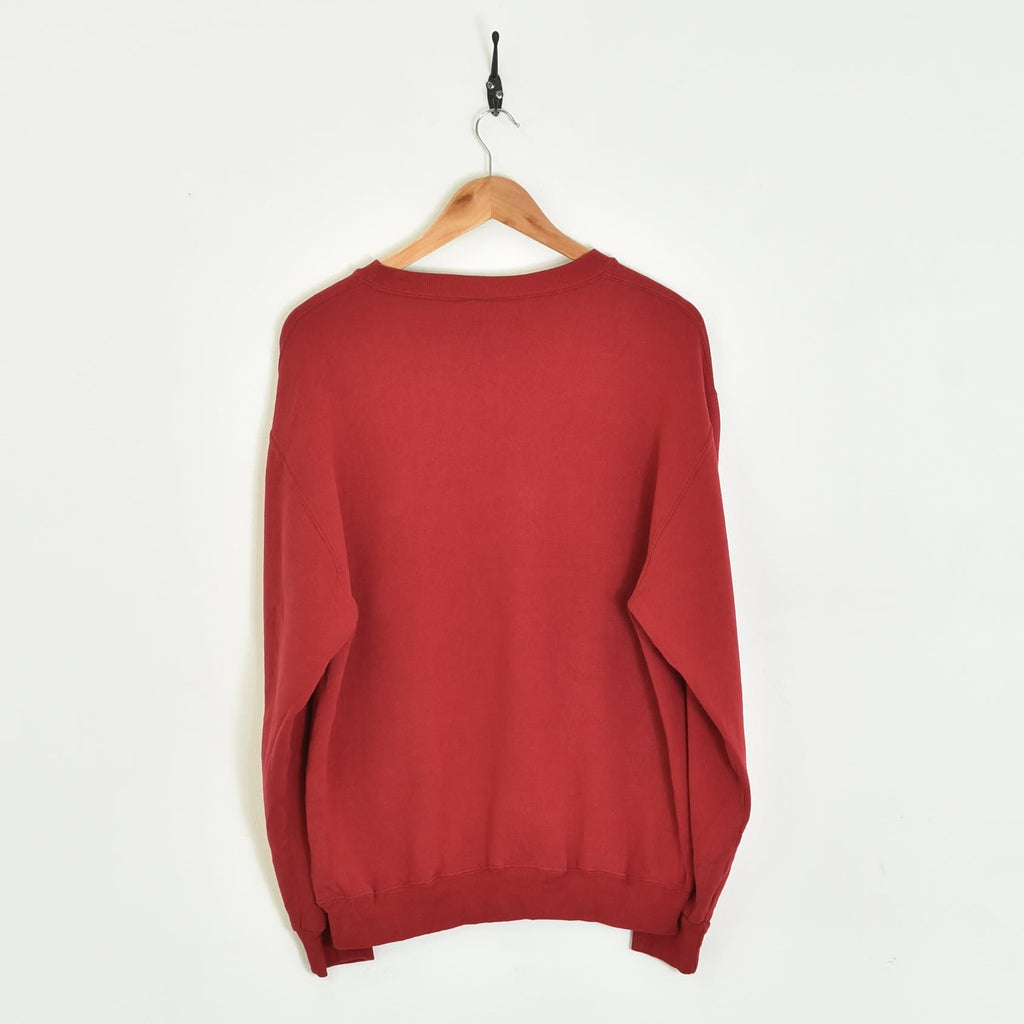 BLOC Supplies Vintage Sweatshirt Red Small - BLOC Vintage Clothing