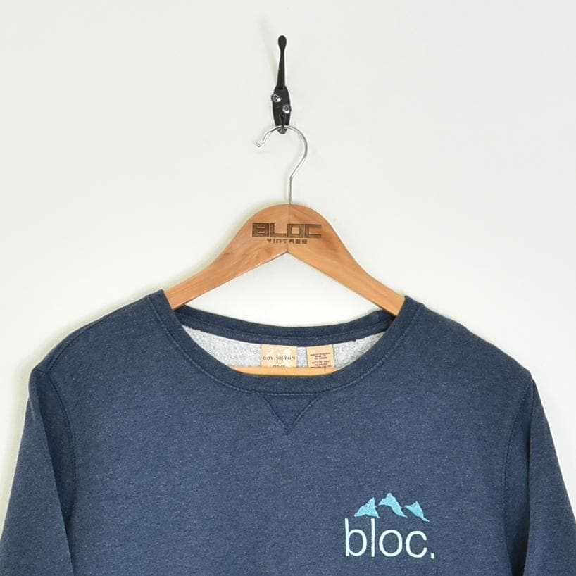 BLOC Supplies Vintage Sweatshirt Blue XXSmall - BLOC Vintage Clothing