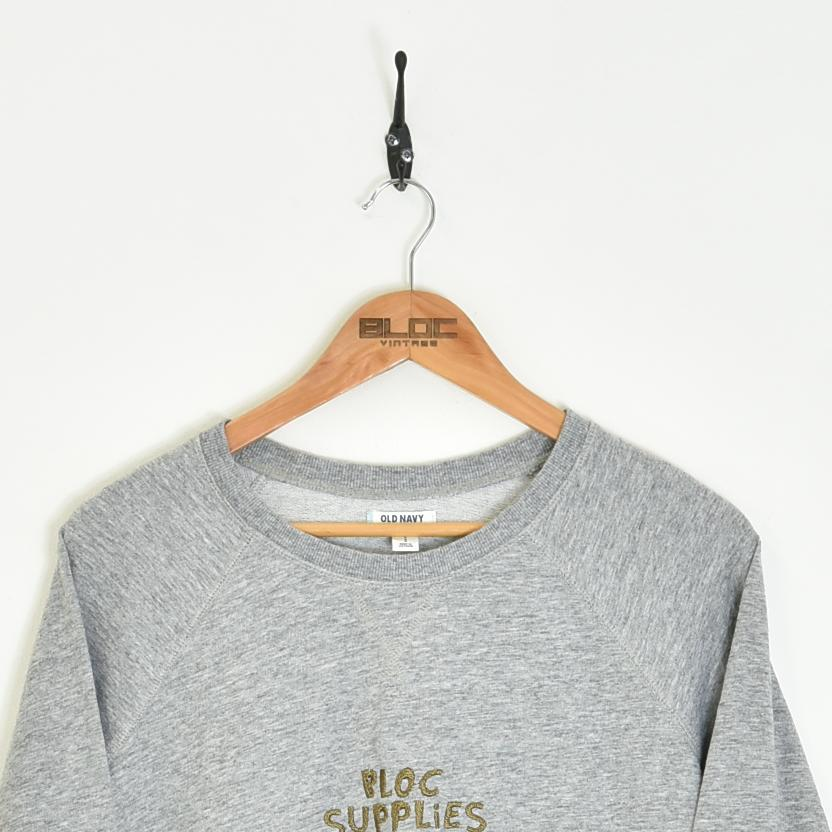 BLOC Supplies Vintage Sweatshirt Grey XSmall - BLOC Vintage Clothing