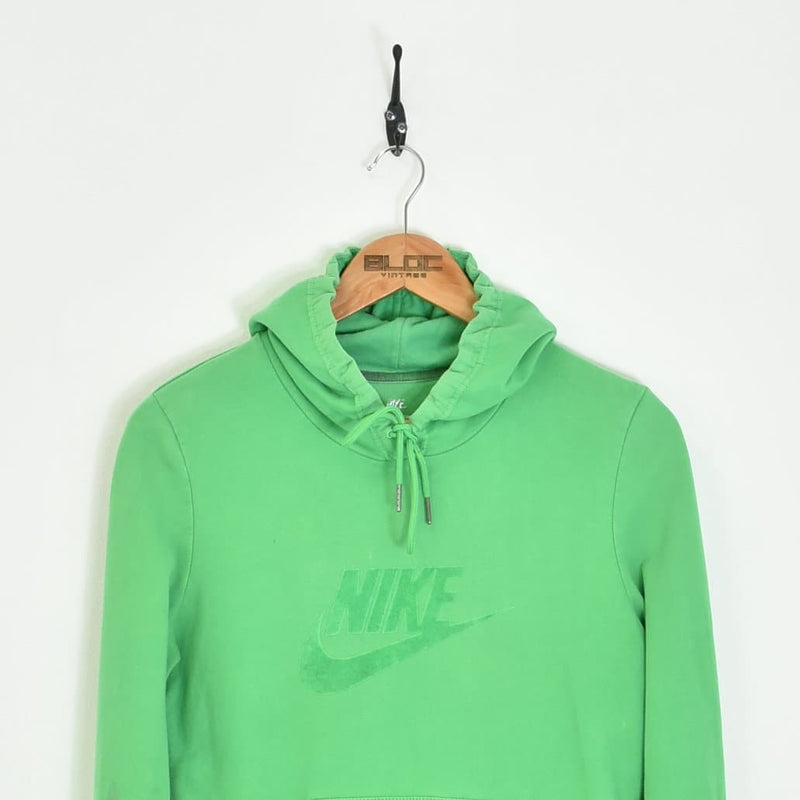 Nike Hooded Sweatshirt Green XSmall - BLOC Vintage Clothing