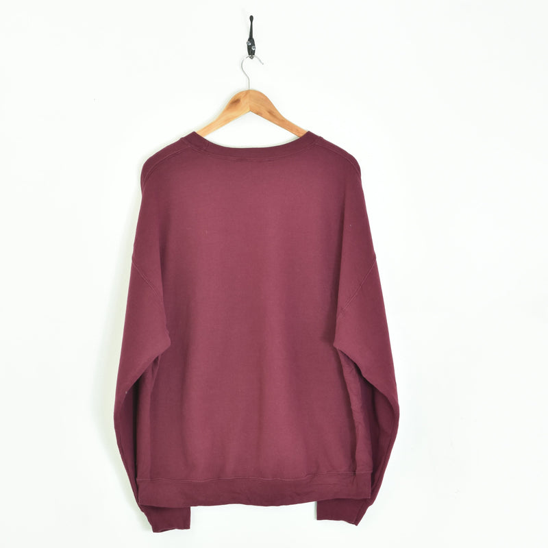 Cambrian College Sweatshirt Maroon Large - BLOC Vintage Clothing