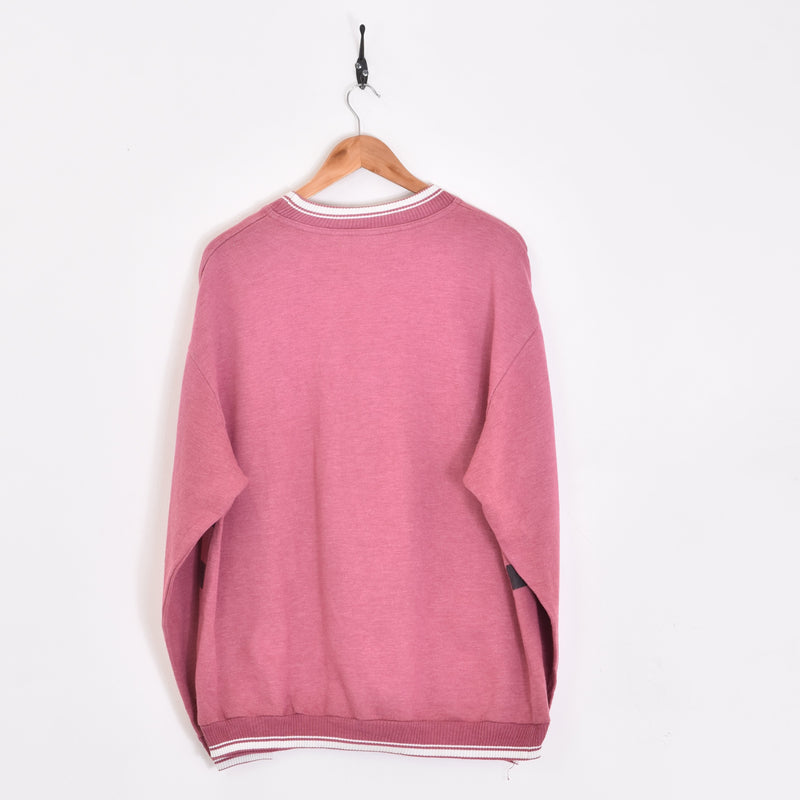 Baseball Boys Sweatshirt Pink Large - BLOC Vintage Clothing