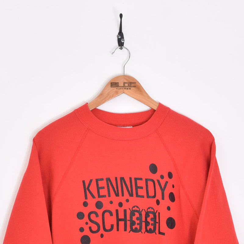 Kennedy School Sweatshirt Red Large - BLOC Vintage Clothing