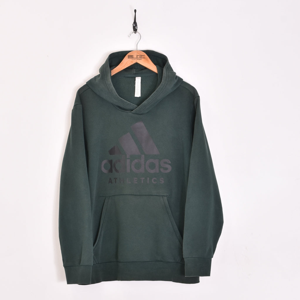 Adidas Hooded Sweatshirt Green XLarge - BLOC Vintage Clothing