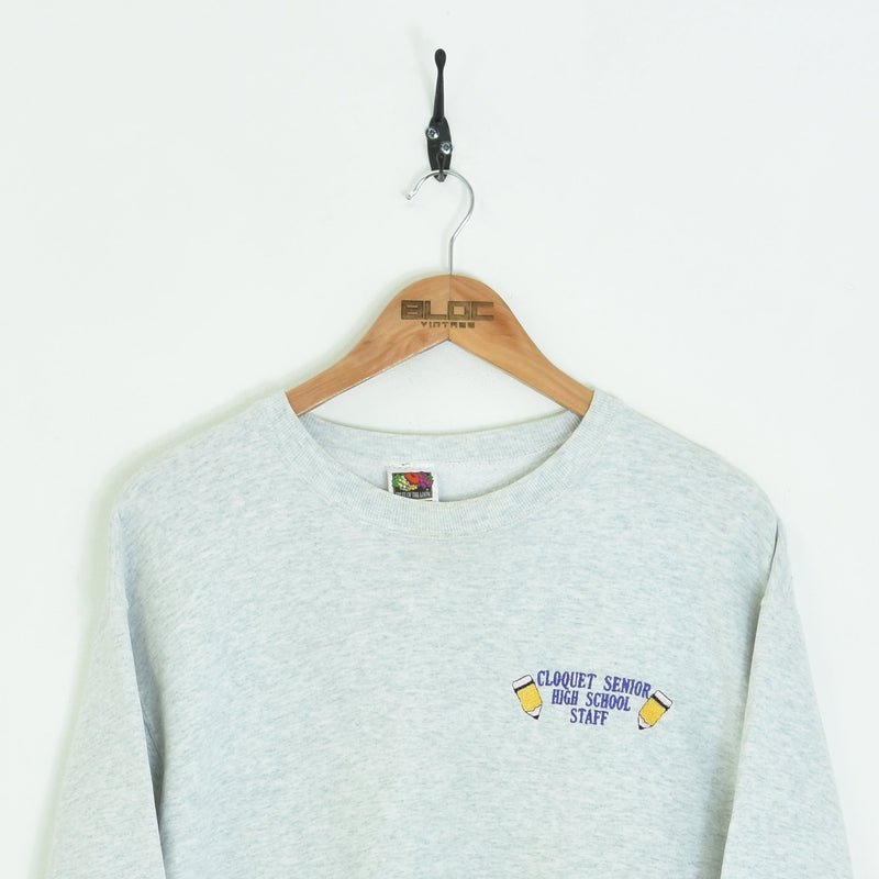 Cloquet Senior High School Sweatshirt Grey Medium - BLOC Vintage Clothing