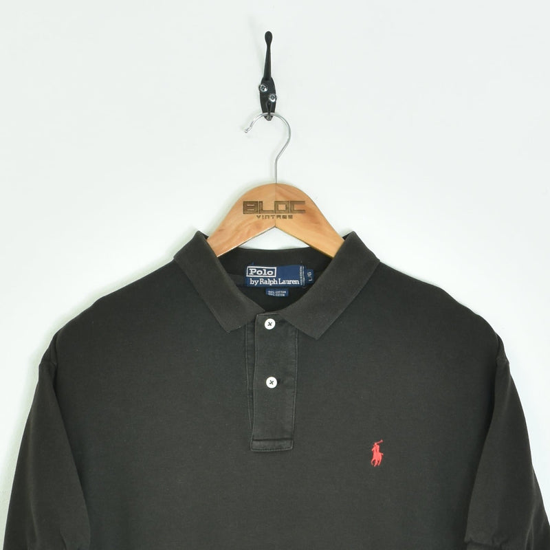 Ralph Lauren Polo T-Shirt Black Small - BLOC Vintage Clothing