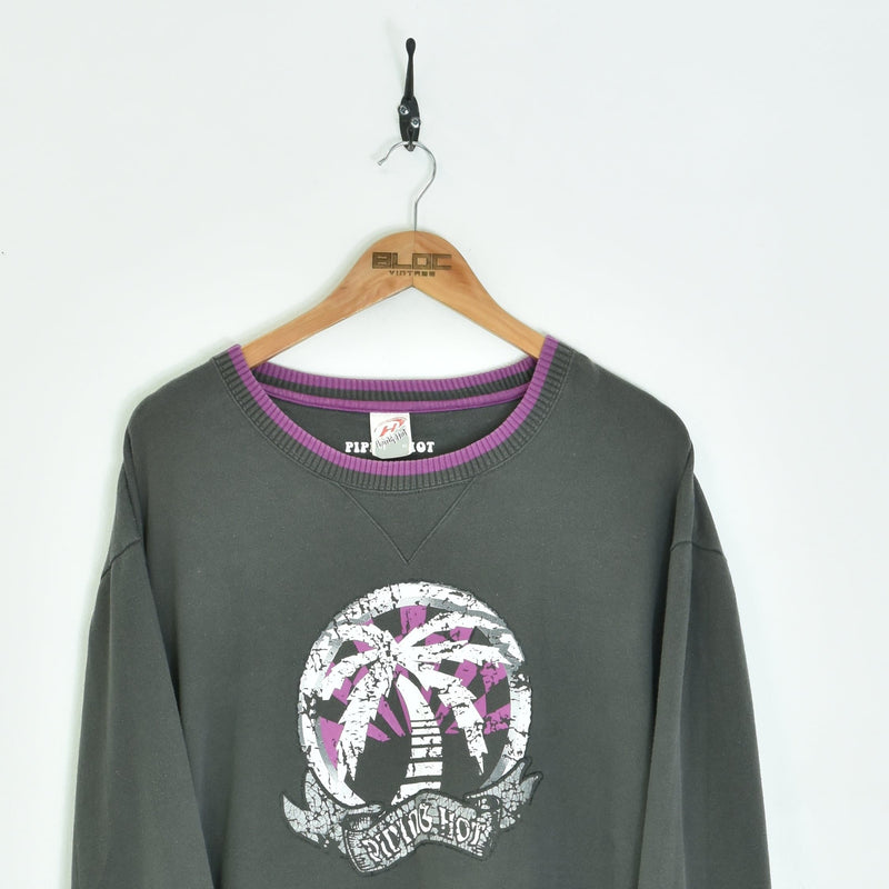 Piping Hot Sweatshirt Grey XLarge - BLOC Vintage Clothing