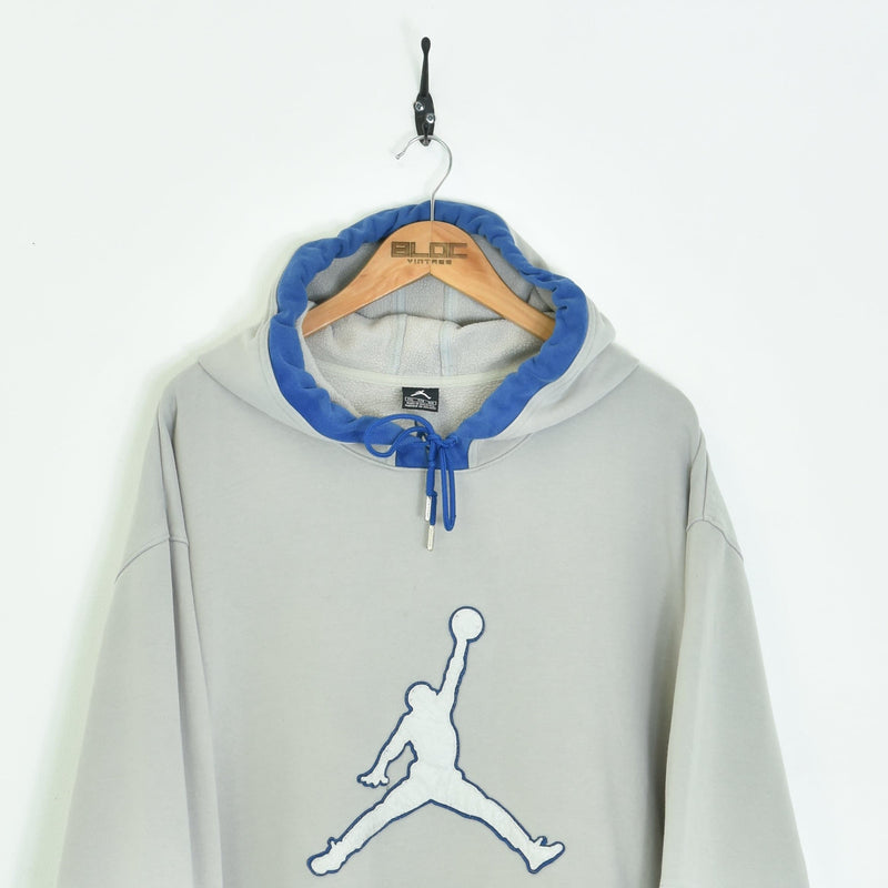 Nike Air Jordan Sweatshirt Grey XXXXLarge - BLOC Vintage Clothing