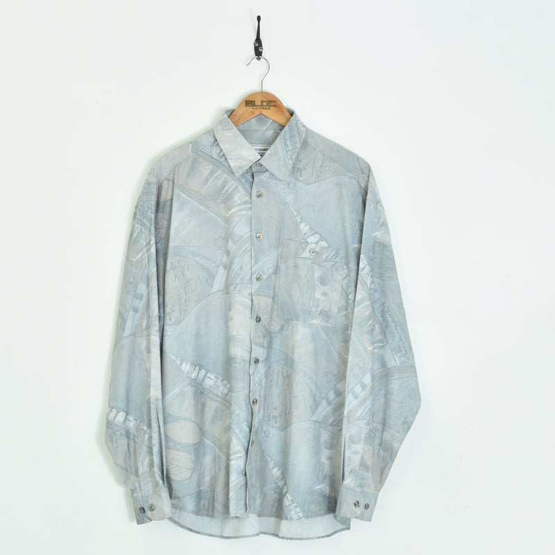 Abstract Shirt Grey XLarge - BLOC Vintage Clothing