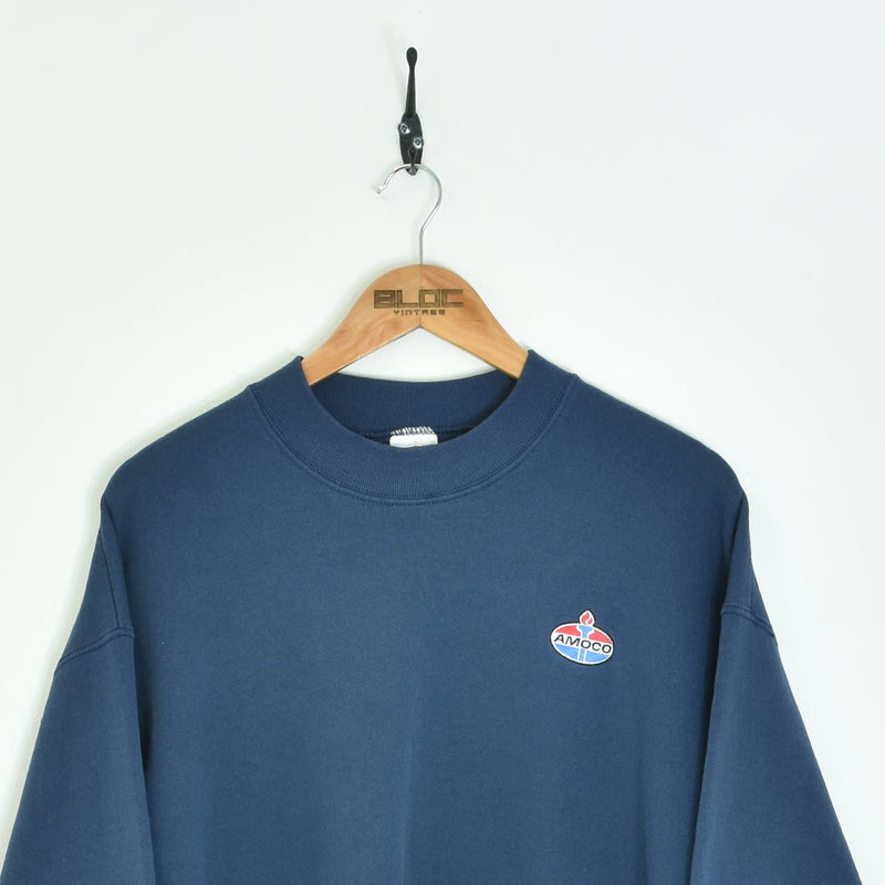 Amoco Sweatshirt Blue Medium - BLOC Vintage Clothing