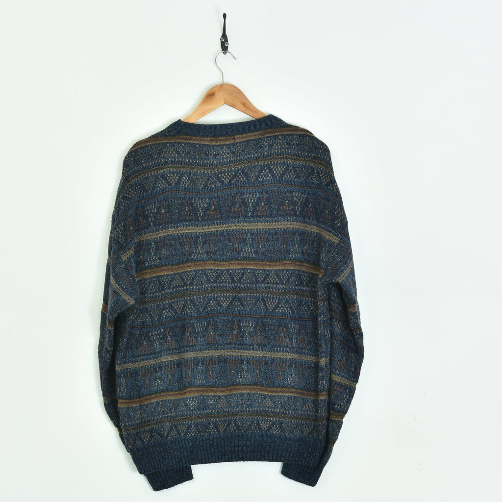 Knitted Sweater Blue XLarge
