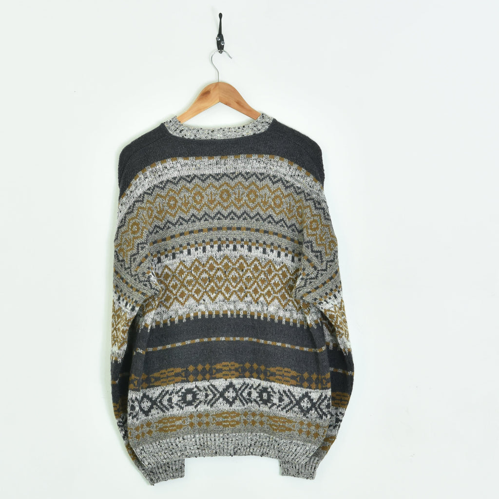 Knitted Sweater Brown Large