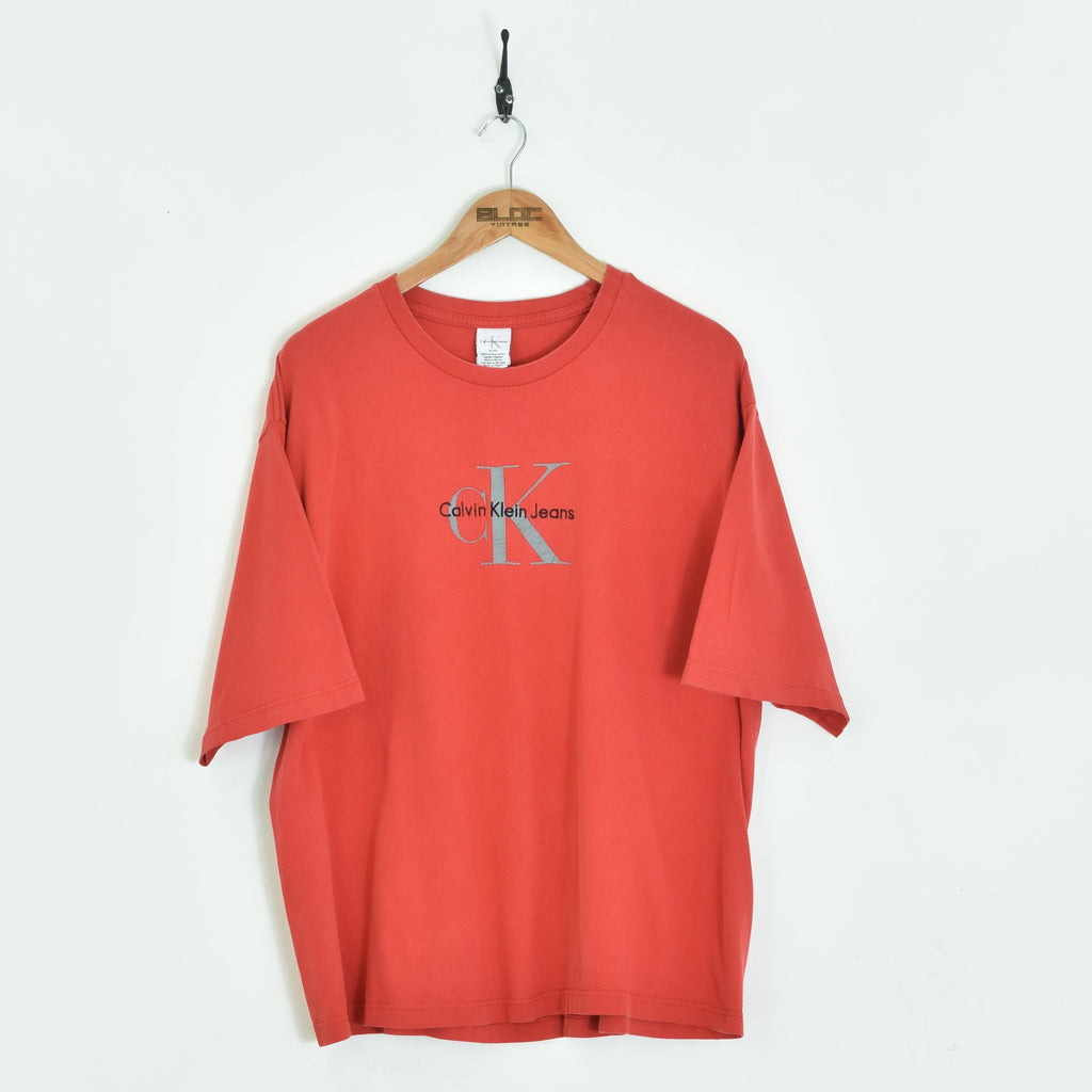 Calvin Klein T-Shirt Red Large