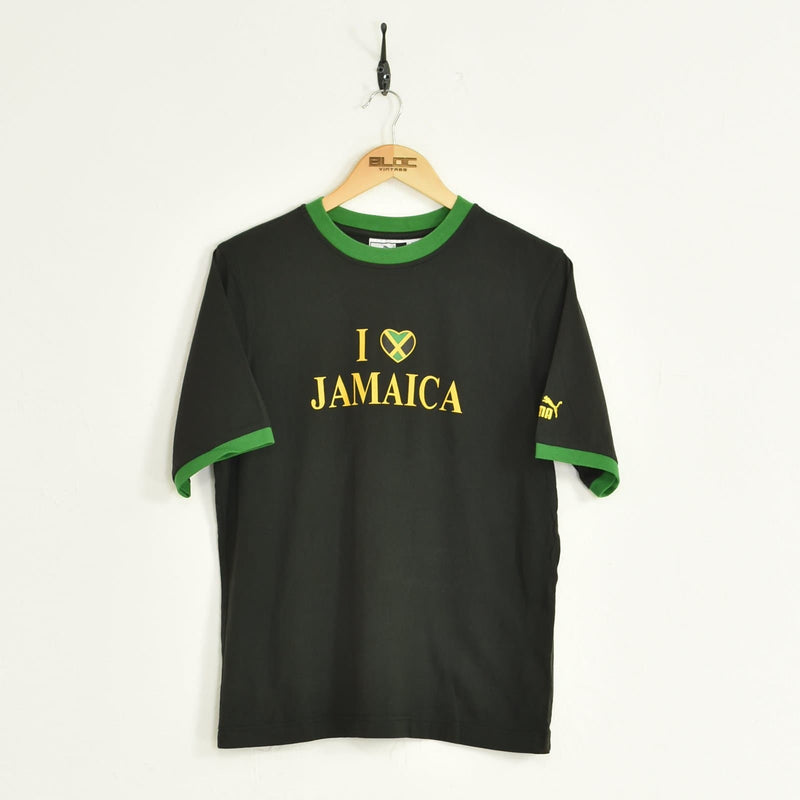 Puma Jamaica T-Shirt Black Small - BLOC Vintage Clothing
