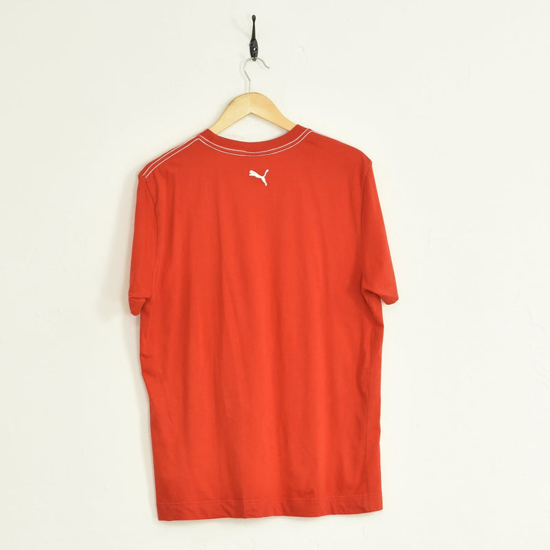 Puma T-Shirt Red Large - BLOC Vintage Clothing