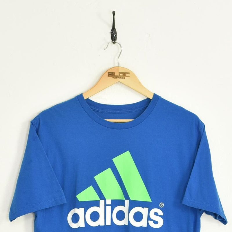 Adidas T-Shirt Blue Large - BLOC Vintage Clothing