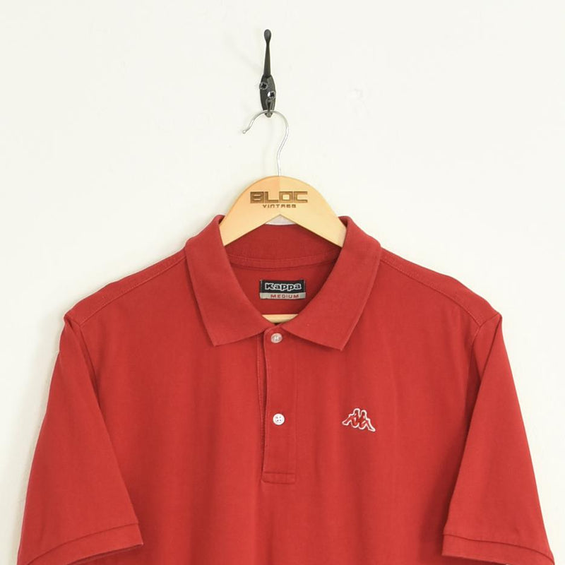 Kappa Polo T-Shirt Red Large - BLOC Vintage Clothing