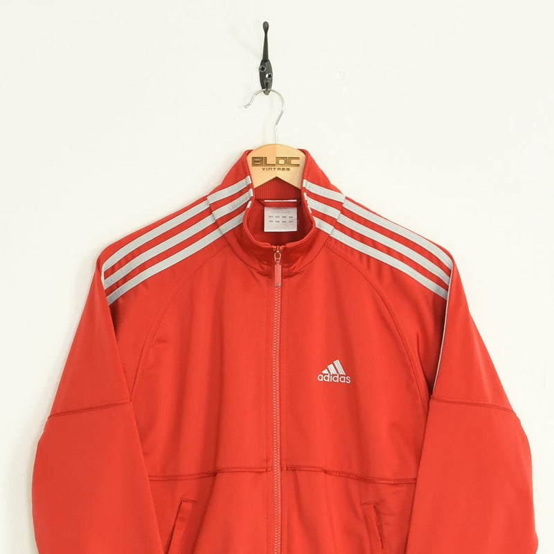 Adidas Tracksuit Top Red XSmall - BLOC Vintage Clothing