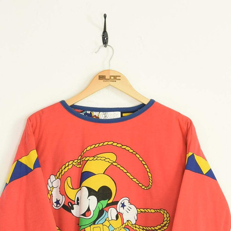 Disney Sweatshirt Red XXSmall - BLOC Vintage Clothing