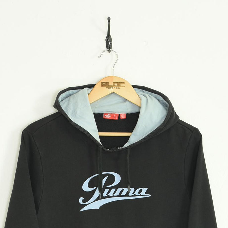 Puma Hooded Sweatshirt Black XXSmall - BLOC Vintage Clothing