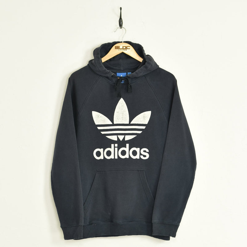 Adidas Hooded Sweatshirt Blue Medium - BLOC Vintage Clothing