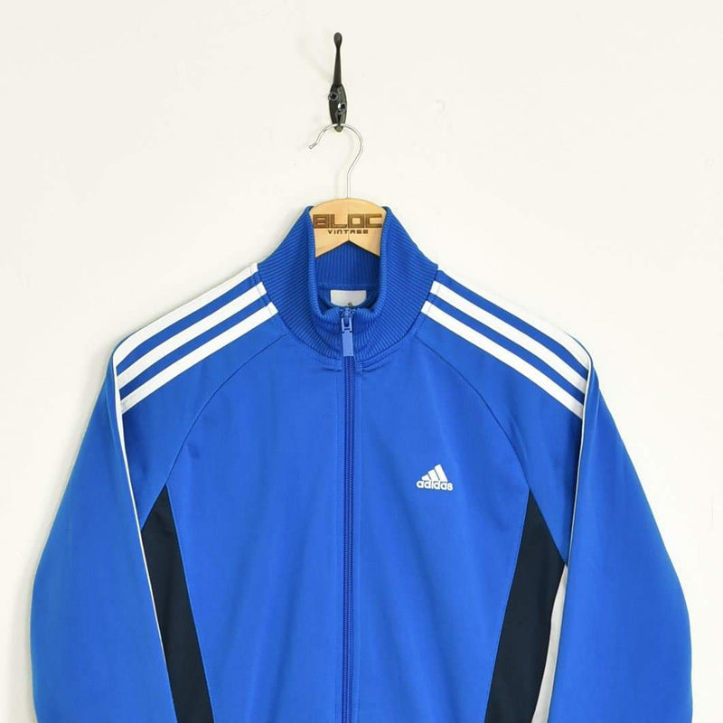 Adidas Tracksuit Top Blue XSmall - BLOC Vintage Clothing